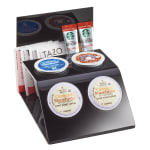 Cal-Mil 3579-13 4 Section K-Cup® Holder & Organizer - Plastic, Black