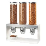 Cal-Mil 3598-3-55 Countertop Cereal Dispenser w/ (3) 4.5 liter Containers - Metal Stand, White