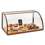 Cal-Mil 3611 3 Tier Full-Service Pastry Display Case w/ Sliding Doors - Antique Metal Frame, Acrylic