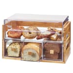 Cal-Mil 3624-60 4 Section Pastry Display Case - Bamboo/Acrylic