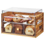 Cal-Mil 3624-99 4 Section Pastry Display Case - Reclaimed Wood/Acrylic