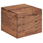 "Cal-Mil 3628-10-78 12"" Square Buffet Riser - 10""H, Walnut"