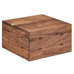 "Cal-Mil 3628-7-78 12"" Square Buffet Riser - 7""H, Walnut"
