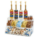 Cal-Mil 3643-10 Condiment Station w/ (10) Sections - Plastic, Clear
