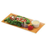 "Cal-Mil 3654-60M Rectangular Serving Tray - 13.75"" x 6.25"", Melamine, Bamboo"