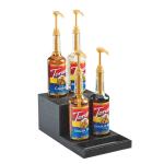 "Cal-Mil 3662-13 2 Tier Bottle Display Riser - 8.5""W x 15""D x 6.25""H, Plastic, Black"