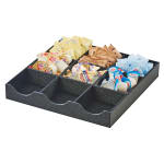 Cal-Mil 3663-13 Condiment Station w/ (9) Sections - Plastic, Black