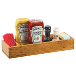 Cal-Mil 3669-99 Wooden Table Caddy w/ (3) Sections, Natural