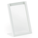 "Cal-Mil 3671-46-15 Tabletop Menu Card Holder - 4"" x 6"", Metal, White"