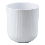 Cal-Mil 3675-32-15 32 oz Ribbed Crock  - Melamine, White
