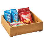 "Cal-Mil 3682-1210-99 Rectangular Stacking Display Bin - 12""W x 10""D x 3.5""H, Reclaimed Wood"