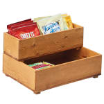 "Cal-Mil 3682-125-99 Rectangular Stacking Display Bin - 12""W x 5""D x 3.25""H, Reclaimed Wood"