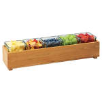 "Cal-Mil 3682-205-99 Rectangular Stacking Display Bin - 20""W x 5""D x 3.25""H, Reclaimed Wood"