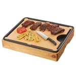 "Cal-Mil 3683-99 Carving Station Board - 22.5"" x 18.25"", Reclaimed Wood"