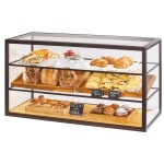 Cal-Mil 3695-84 3-Tier Full-Service Pastry Display Case w/ Sliding Doors - Bronze Frame, Acrylic
