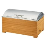 Cal-Mil 3821-60 Full Size Chafing Dish w/ Hinged Lid & Chafing Fuel Heat