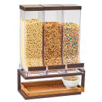 Cal-Mil 3909-84 Countertop Cereal Dispenser w/ (3) 10 liter Containers - Metal Stand, Bronze