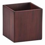 """Cal-Mil 4004-4 4"""" Square Serving Jar - Resin, Dark Wood"""