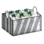 "Cal-Mil 41115-10-13 Ice Housing w/ Plastic Pan - 12.8""W x 13.25""D x 8.12""H, Wire, Black"
