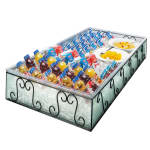 """Cal-Mil 413-18-13 Removable Wire & Faux Glass Housing w/ Pan, 18 x 26"""""""