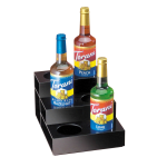 Cal-Mil 677 3 Tier Bottle Organizer w/ 6 Bottle Capacity, Black Acrylic