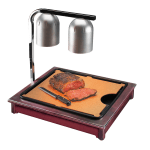 "Cal-Mil 810-52 Carving Station w/ 18 x 22"" Cutting Board & Drip Tray, Dark Wood"