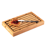 "Cal-Mil 823 Bamboo Crumb Catcher Cutting Board, 13.75 x 8 x 1.5"" High"
