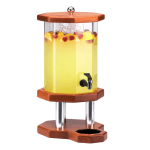 Cal-Mil 972-3-53 3-Gallon Octagon Beverage Dispenser w/ Ice Chamber, Light Wood Base