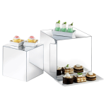 Cal-Mil MC700 Mirror Display Riser Cubes - Nestable, Acrylic, Clear