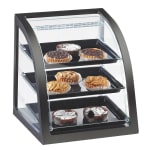 Cal-Mil P255-52 Countertop Display Case w/ Rear Door & Euro Front, Dark Wood Frame