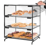 Cal-Mil PC300-39 3-Tier Gourmet Pastry Display Case - Clear, Platinum