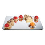 "Cal-Mil PT450 Rectangular Gourmet Display Mirror Tray - 12-1/2x20"", Acrylic"