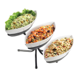 Cal-Mil SR304-39 3 Tier Gourmet Canoe Bowl Display - Melamine, Platinum