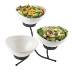 Cal-Mil SR701-13 3 Tier Sierra Tulip Display - Melamine, Black