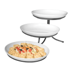 Cal-Mil SR900-13 3 Tier Oval Sierra Display Stand - Melamine, Black