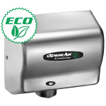 American Dryer EXT7C Hand Dryer w/ 12 15 Second Dry Time & Automatic Sensor, Satin Chrome