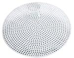 Browne 57 30008 8 in Perforated Pizza Disk, Aluminum, Natural Finish