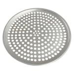 """Browne 575349 Perforated Pizza Plate, 9"""" Diameter, 1.0 mm Gauge Aluminum"""
