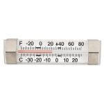 "Browne FT84028 Refrigerator/Freezer Thermometer, 1-7/8"", -40 to 80 degrees F"
