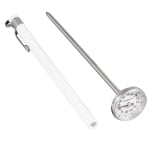 "Browne PT84113 Pocket Test Thermometer, -10 to 110 degrees C, 1""Dial, 5"" Stem"
