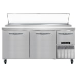 "Continental Refrigeration CPA68 68"" Pizza Prep Table w/ Refrigerated Base, 115v"