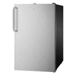 Summit FS408BL7SSTB 2.8-cu ft Undercounter Freezer w/ (1) Section & (1) Door, 115v