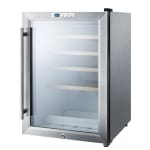 "Summit SCR312LWC2 17"" One Section Wine Cooler w/ (1) Zone, 22 Bottle Capacity, 115v"