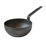 "Mauviel 3612.28 11"" Round Saute Pan - Carbon Steel, Black"