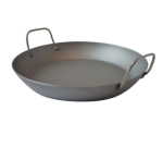 "Mauviel 3637.36 13.7"" Carbon Steel Paella Pan"