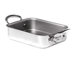 "Mauviel 5117.18 Mini Roast Pan Rectangular -  7.1x3.9x1.8"", Stainless"