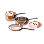 Mauviel 6400.01 5 Piece Copper & Stainless Cookware Set w/ Cast Iron Handles