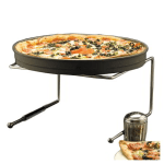 "American Metalcraft 190039 7""H Chrome-plated Steel PIzza Stand"