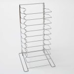 "American Metalcraft 19033 Pizza Pan Rack w/ 11-Shelf Capacity for 16"" To 23"" Pan, Chrome/Steel"