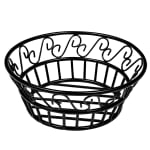 "American Metalcraft BLSB80 8"" Bread Basket w/ Scroll Design, Wrought Iron/Black"